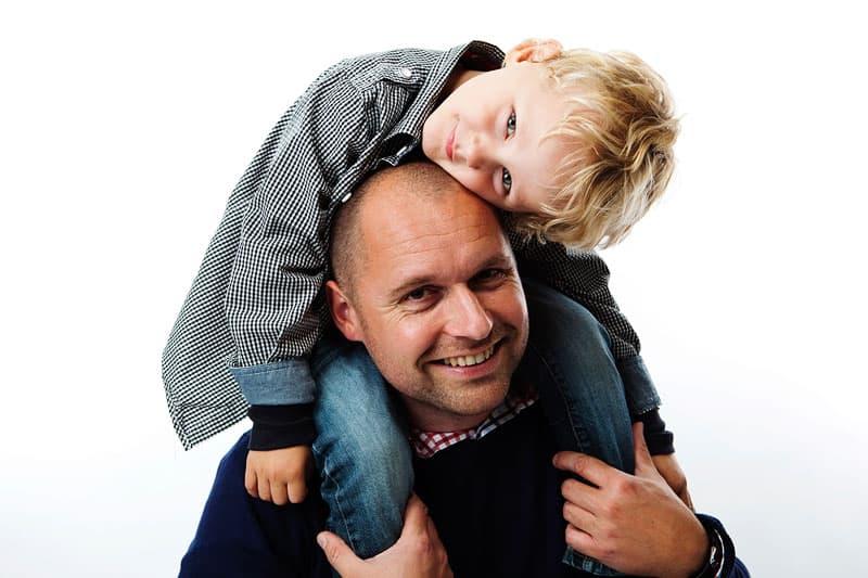 Far og søn portræt – Fotograf Lyngby