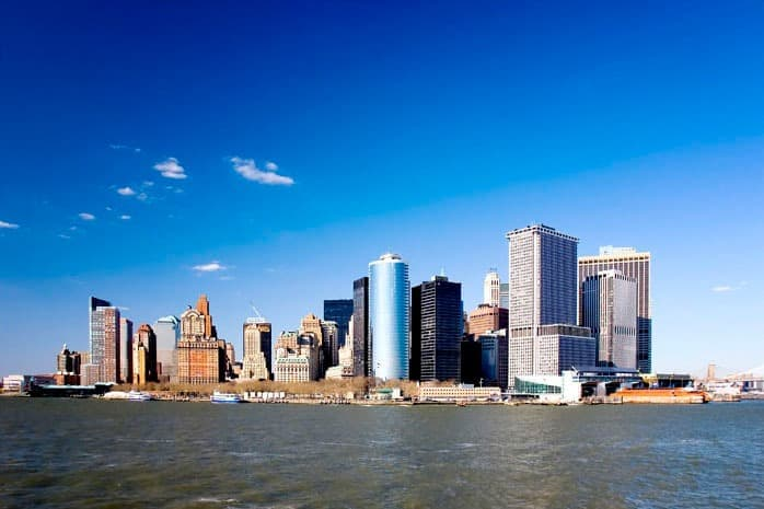 New York - set fra vandet