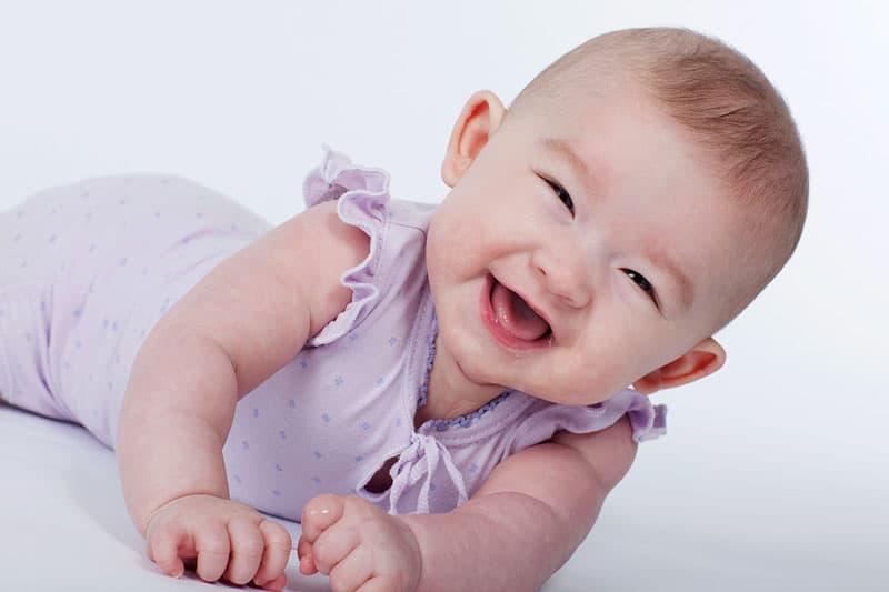 Smilende baby :)