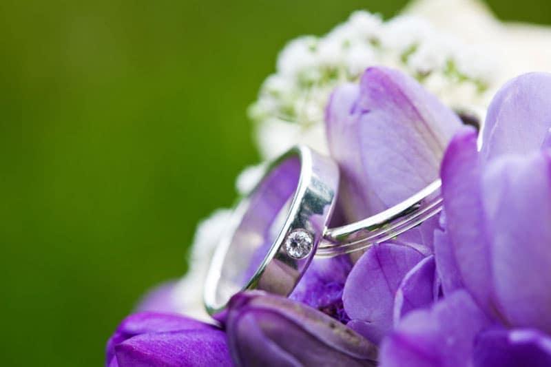 Bryllupsfotografering – Vielsesringene