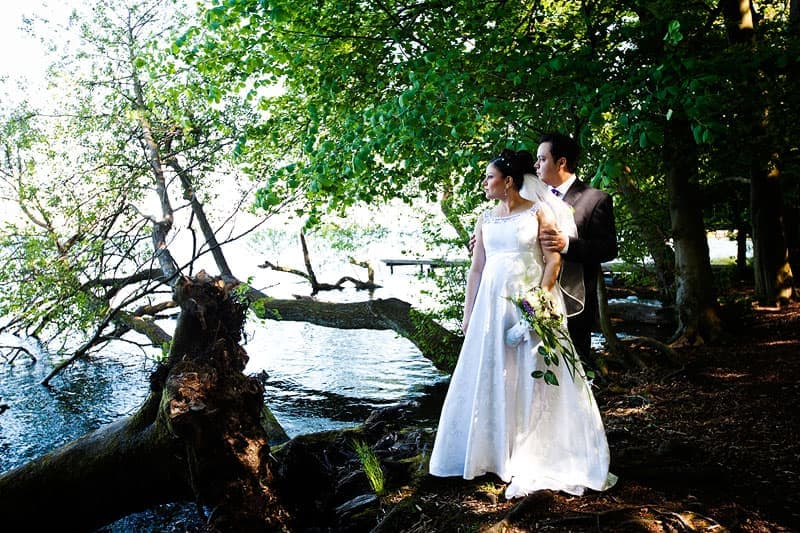 Bryllups foto – sommerbryllup ved Furesø Marina – del 1