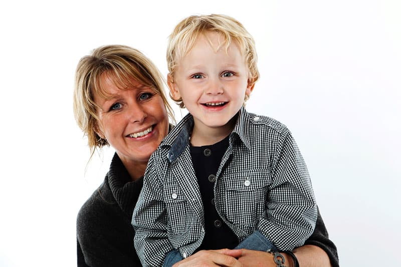 Fotograf Lyngby – Mor og søn portræt
