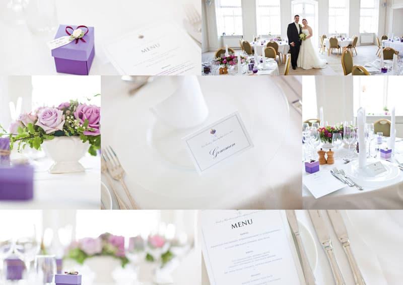 Borddekorationer til bryllup