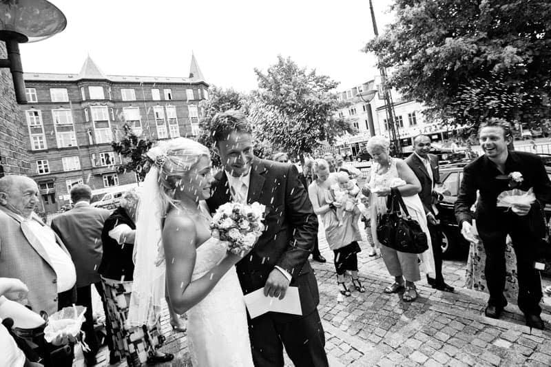 Bryllupsfotografering - Riskastning