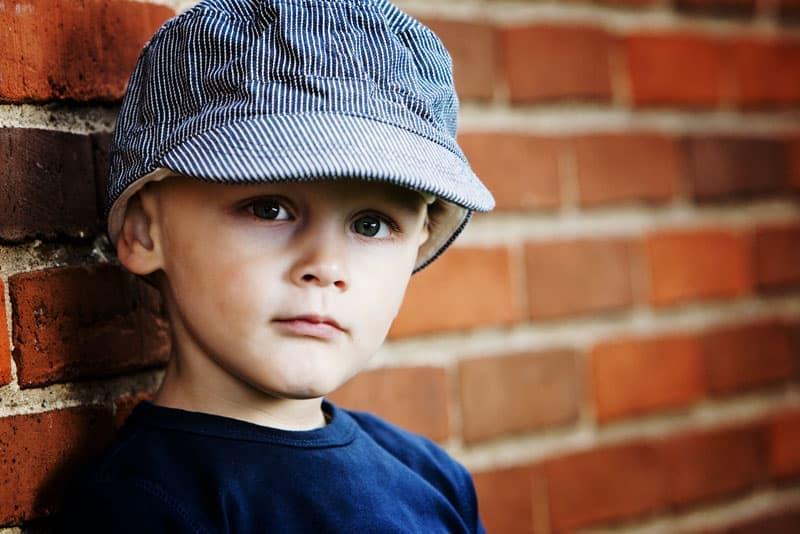 Portræt af dreng – 3 år