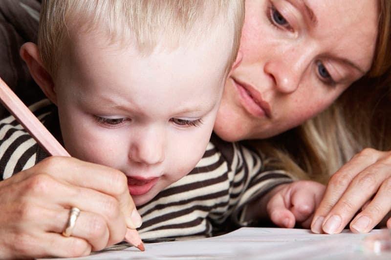 Mor og barn foto, de første streger... - del 1
