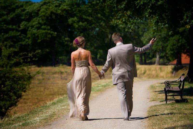 Bryllupsfotografering ved Kastellet – del 1