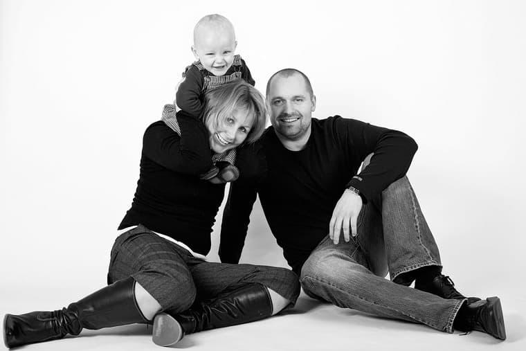 Familieportræt med Christoffer 1 år