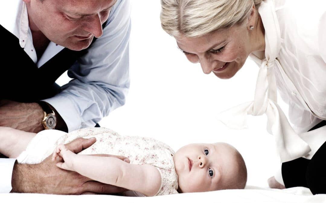 Familiebillede med baby