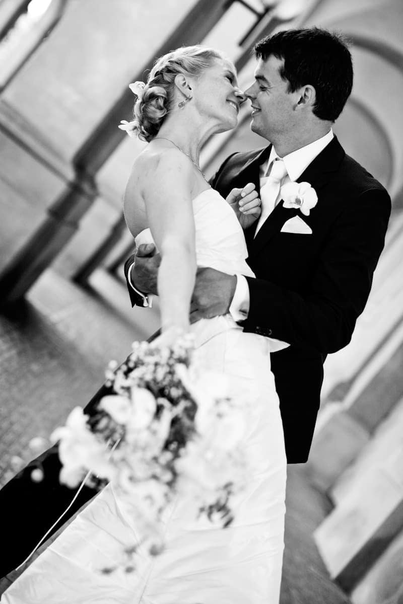 Bruden og gommen - Fotograf ved Christiansborg Ridebane