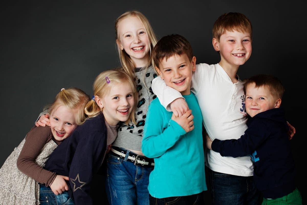 Billede af fætre og kusiner, familiebillede