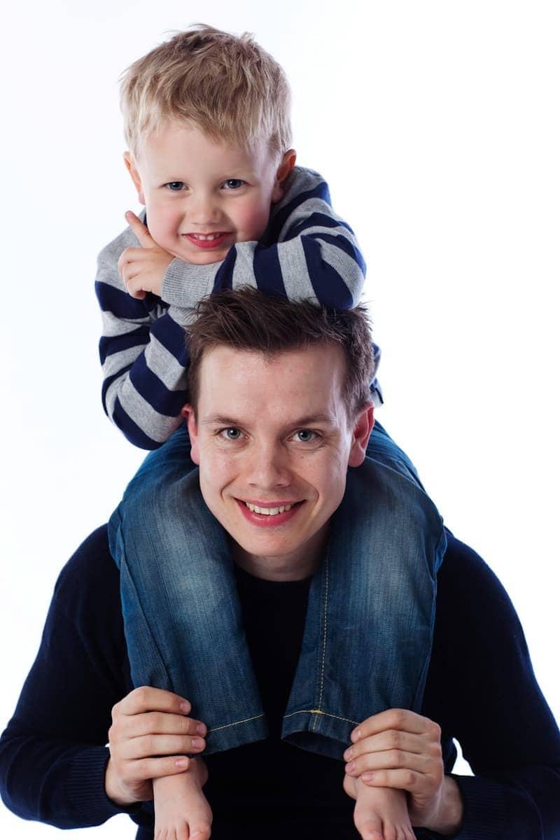 Far og søn fotograf