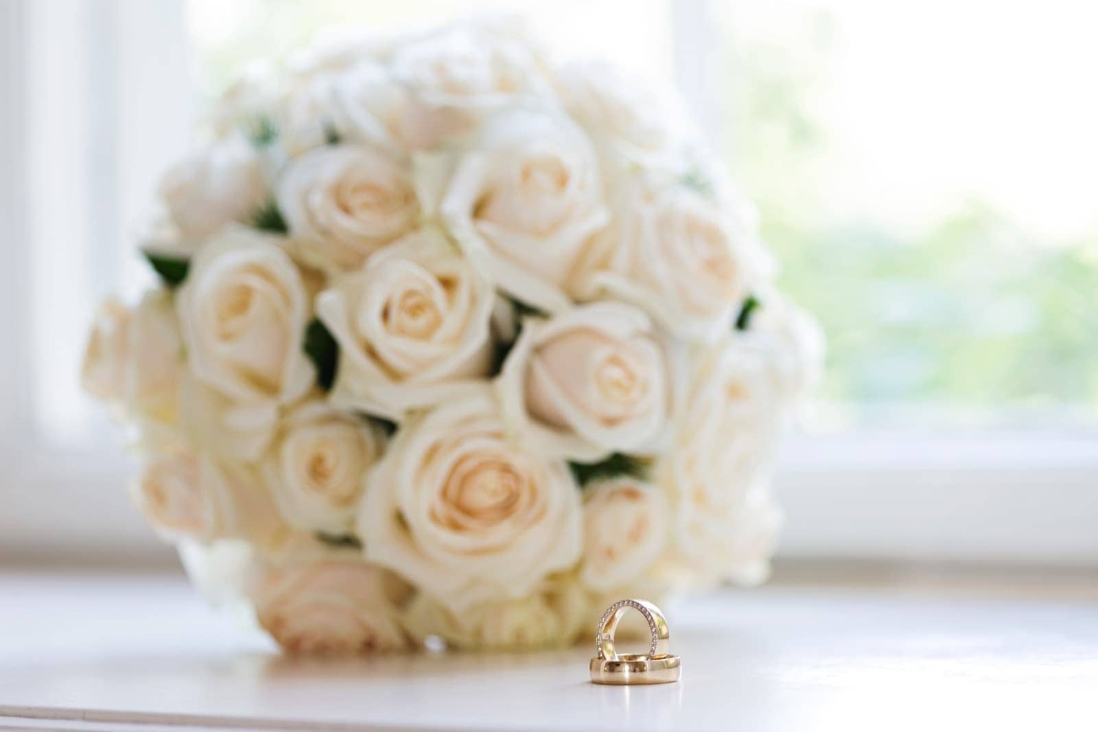 Bryllupsbuket – Næsbyholm Slot