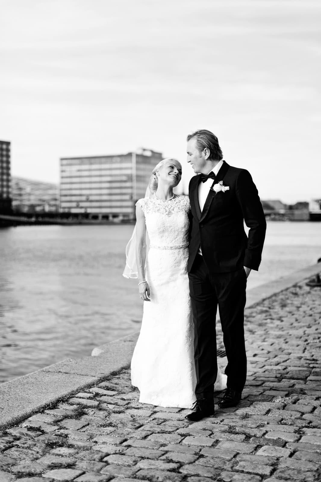 Brudepar ved Islands Brygge