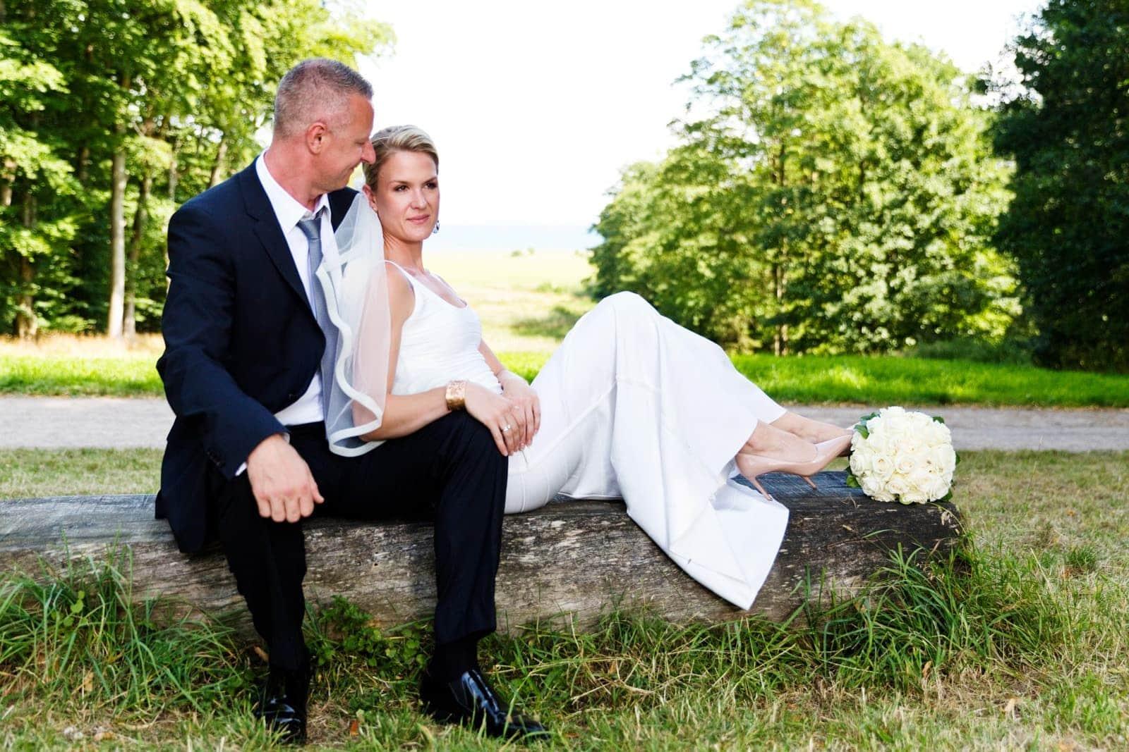 Brudepar ved Kokkedal Slot