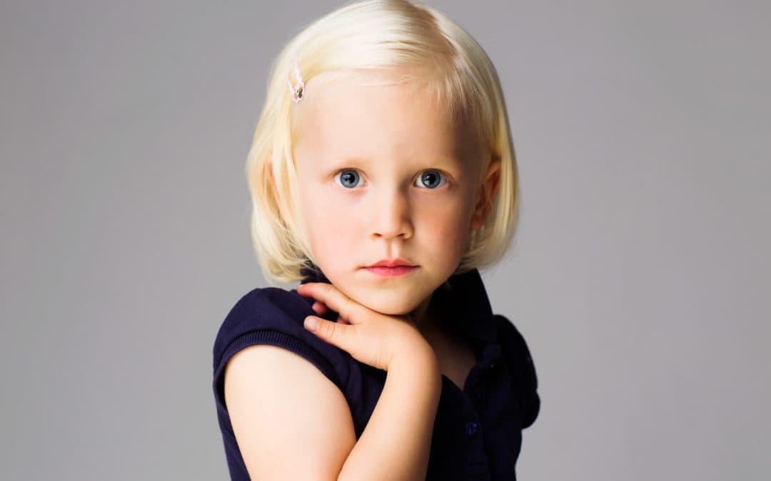 Billede af pige, portræt