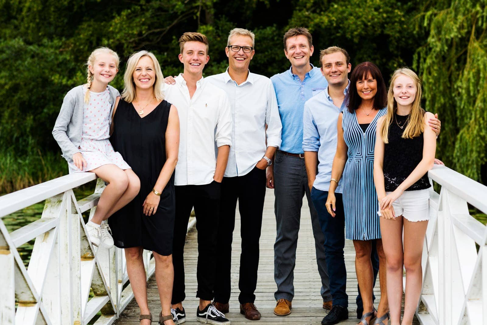 Foto - familiebillede - Den hvide bro i Virum