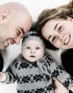 Baby med familie