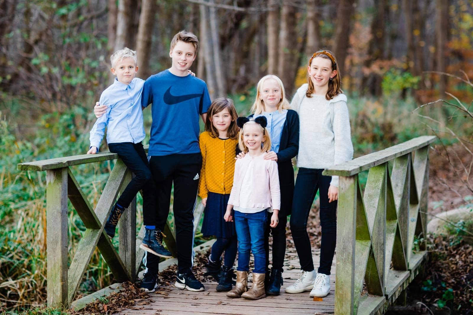 Gruppebillede af familien - ved Furesøen 3