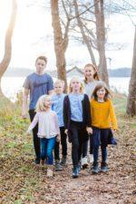 Gruppebillede af familien – ved Furesøen 2