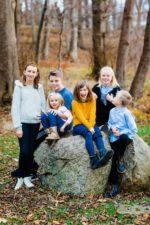 Gruppebillede af familien – ved Furesøen 1