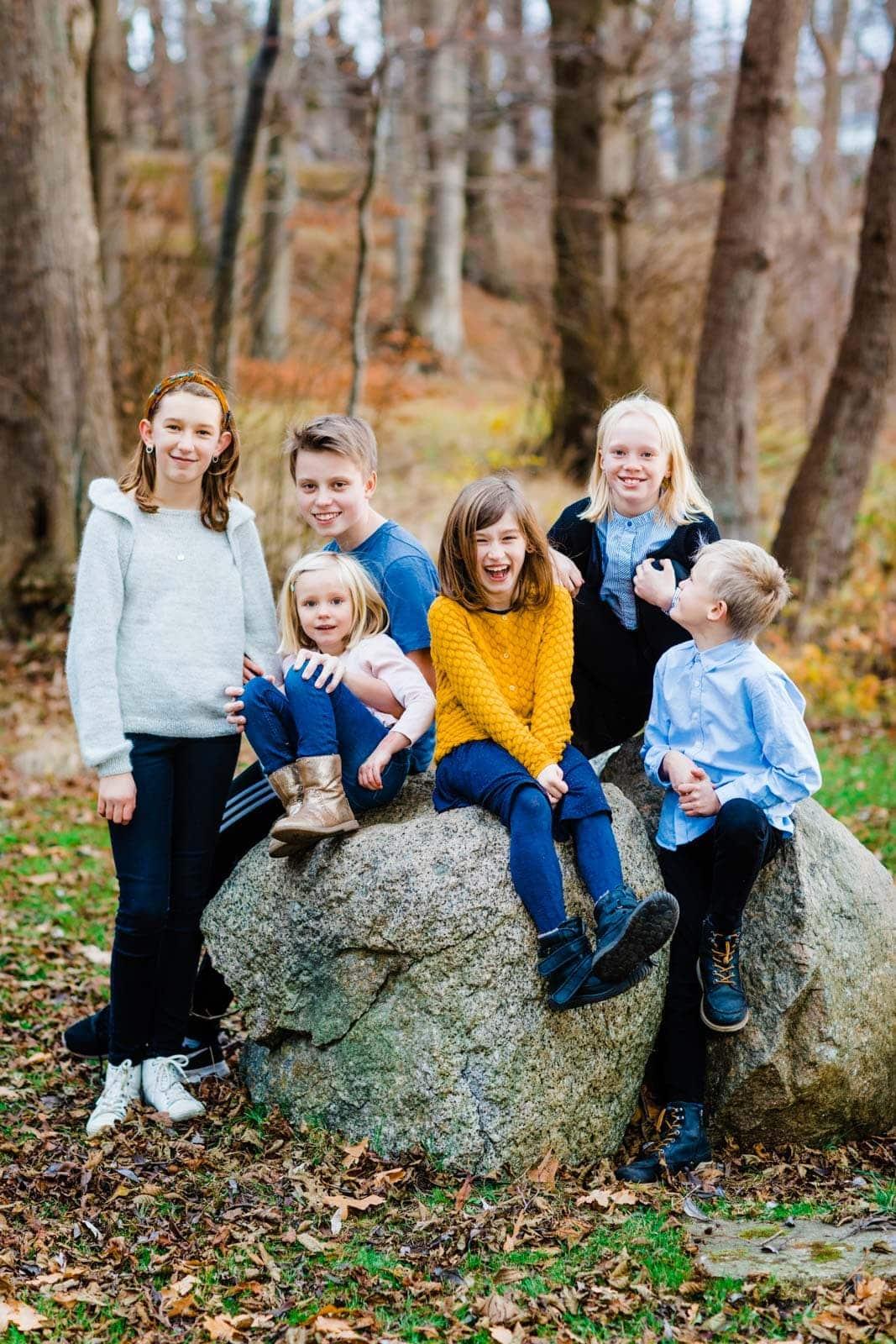 Gruppebillede af familien - ved Furesøen 1