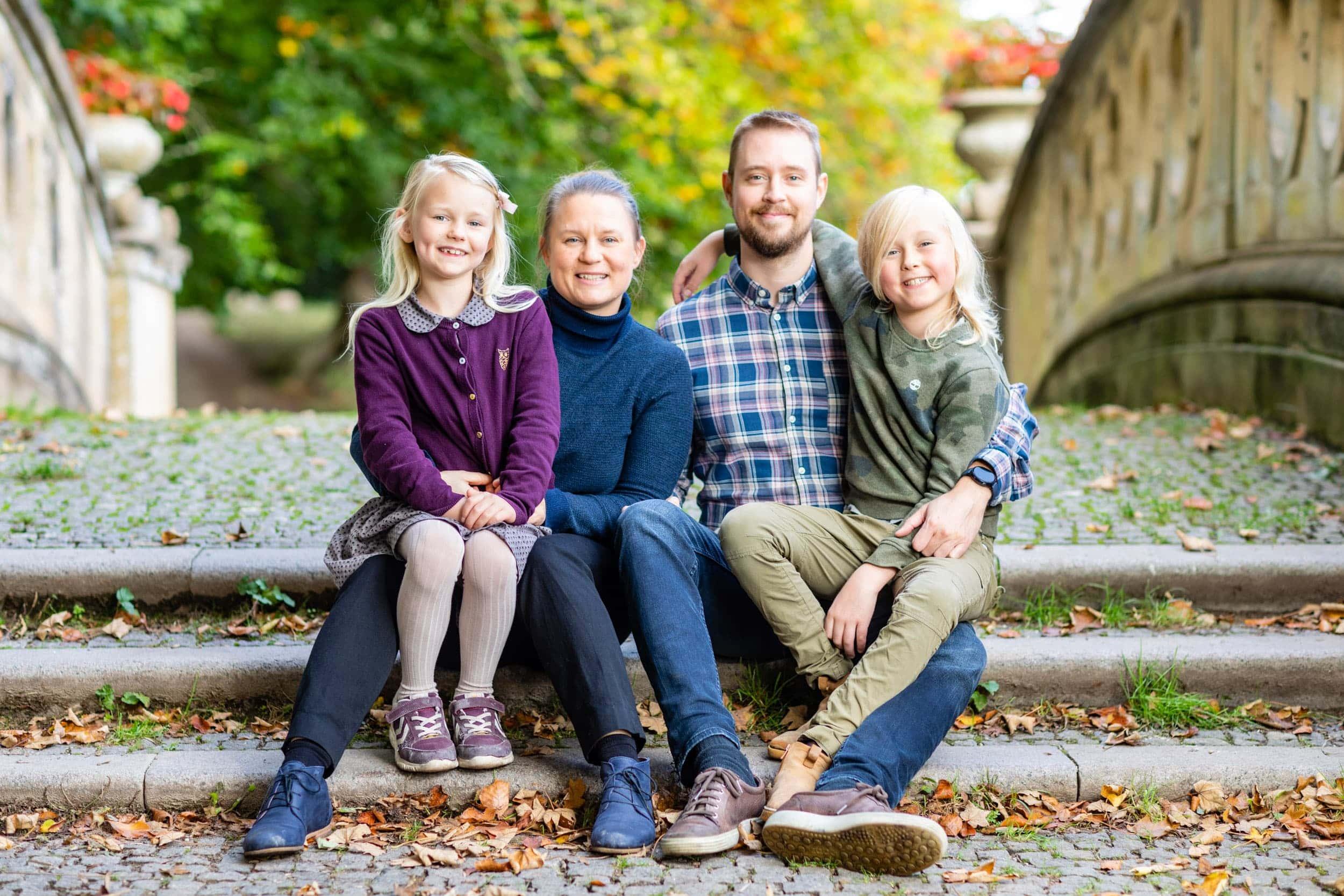 Familieportræt ved Aldershvile slotsruin