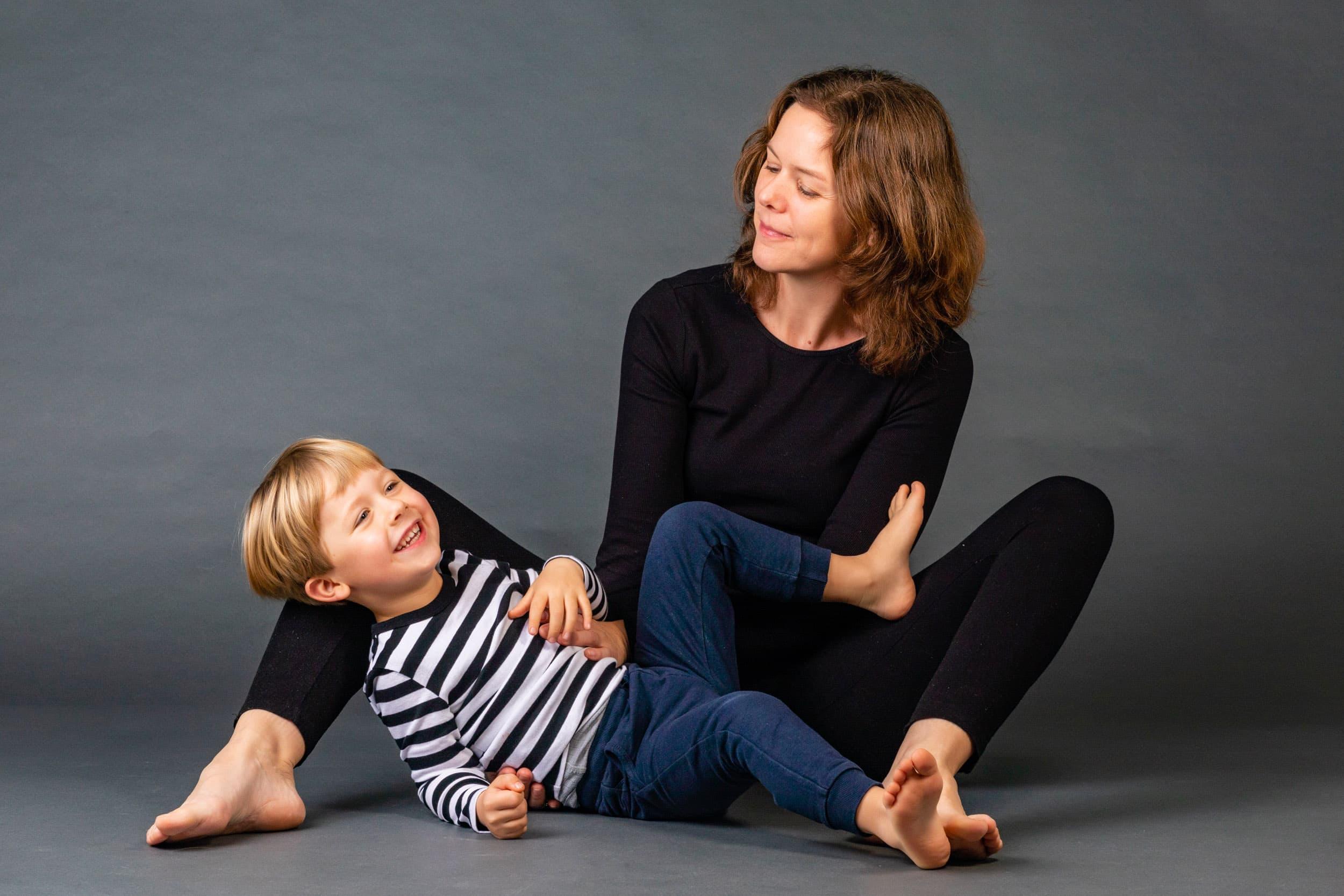 Billeder af mor og barn